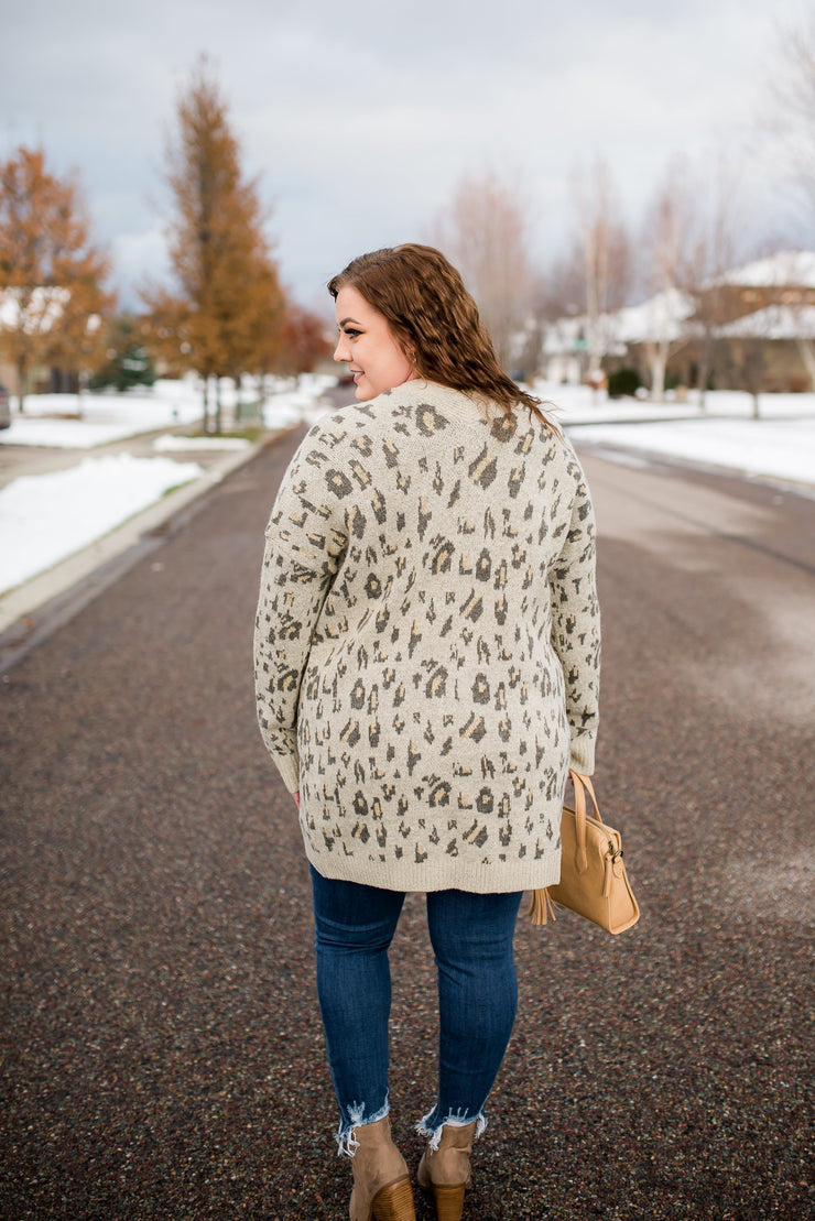 Roam Free Leopard Cardigan - Women's Clothing AfterPay Sezzle KanCan Judy Blue Simply Sass Boutique