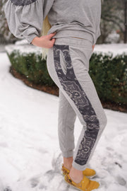 Perfectly Paisley In Everyway Lounge Bottoms - Women's Clothing AfterPay Sezzle KanCan Judy Blue Simply Sass Boutique