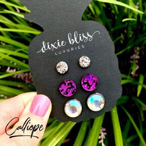 Earring Trio - Calliope - Women's Clothing AfterPay Sezzle KanCan Judy Blue Simply Sass Boutique