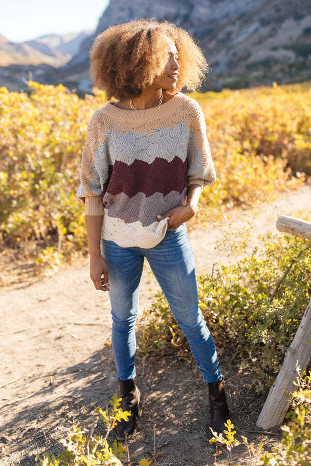 Designed For Details Sweater in Burgundy - Women's Clothing AfterPay Sezzle KanCan Judy Blue Simply Sass Boutique