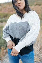 Designed For Details Sweater in Gray - Women's Clothing AfterPay Sezzle KanCan Judy Blue Simply Sass Boutique