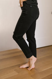 Devastatingly Dark Black Jeans - Women's Clothing AfterPay Sezzle KanCan Judy Blue Simply Sass Boutique
