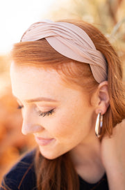 Double Dutch Headband in Taupe - Women's Clothing AfterPay Sezzle KanCan Judy Blue Simply Sass Boutique