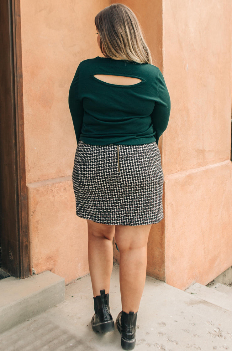 Elly Tweed Skirt in Black - Women's Clothing AfterPay Sezzle KanCan Judy Blue Simply Sass Boutique