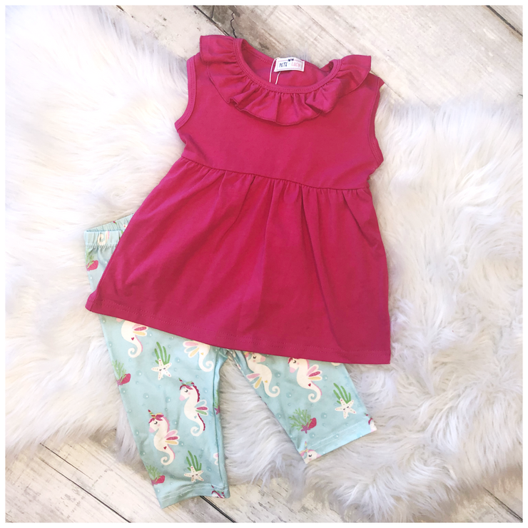 Capri Set - Unicorn Seahorse - Simply Sass Boutique