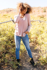 Every Girl's Favorite Basic Top in Mauve - Women's Clothing AfterPay Sezzle KanCan Judy Blue Simply Sass Boutique