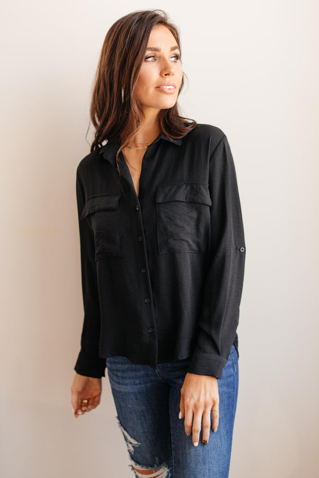 Every Girl's Go To Black Button Down - Women's Clothing AfterPay Sezzle KanCan Judy Blue Simply Sass Boutique