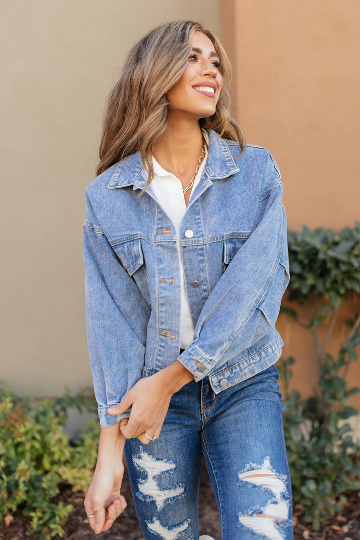 Every Season Denim Jacket - Women's Clothing AfterPay Sezzle KanCan Judy Blue Simply Sass Boutique