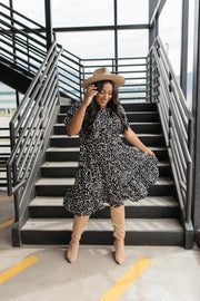 Fall Fancy Tiered Dress In Midnight - Women's Clothing AfterPay Sezzle KanCan Judy Blue Simply Sass Boutique