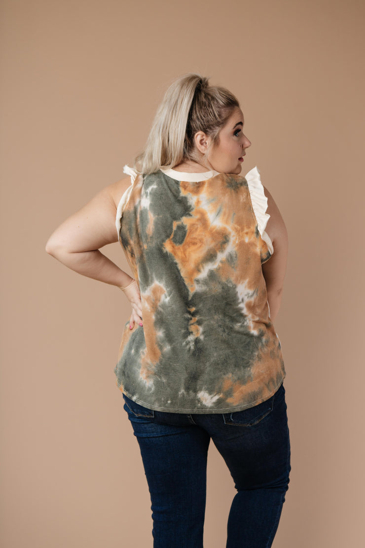 Falling Leaves Textured Tie Dye Top - Women's Clothing AfterPay Sezzle KanCan Judy Blue Simply Sass Boutique
