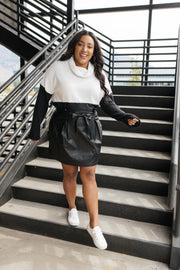 Faux But Fabulous Leather Skirt In Black - Women's Clothing AfterPay Sezzle KanCan Judy Blue Simply Sass Boutique