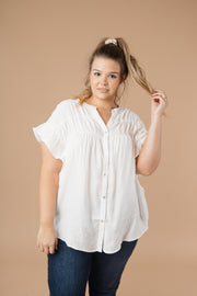 Gather Round Ivory Button Down - Women's Clothing AfterPay Sezzle KanCan Judy Blue Simply Sass Boutique