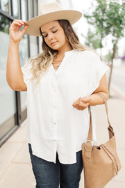 Gather Round Ivory Button Down - Simply Sass Boutique