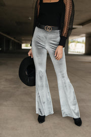 Get Your Groove On Velvet Bell Bottoms - Women's Clothing AfterPay Sezzle KanCan Judy Blue Simply Sass Boutique
