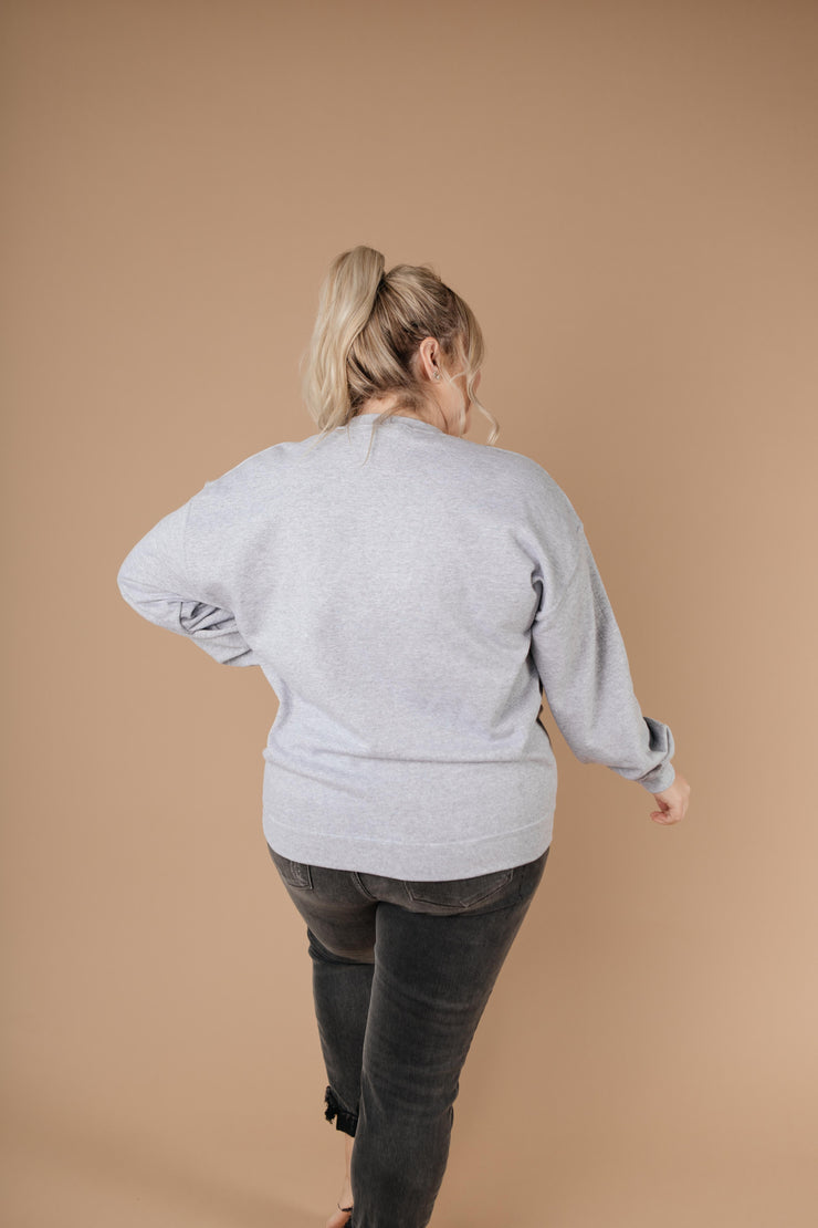 Good Vibes Heather Gray Sweatshirt - Simply Sass Boutique