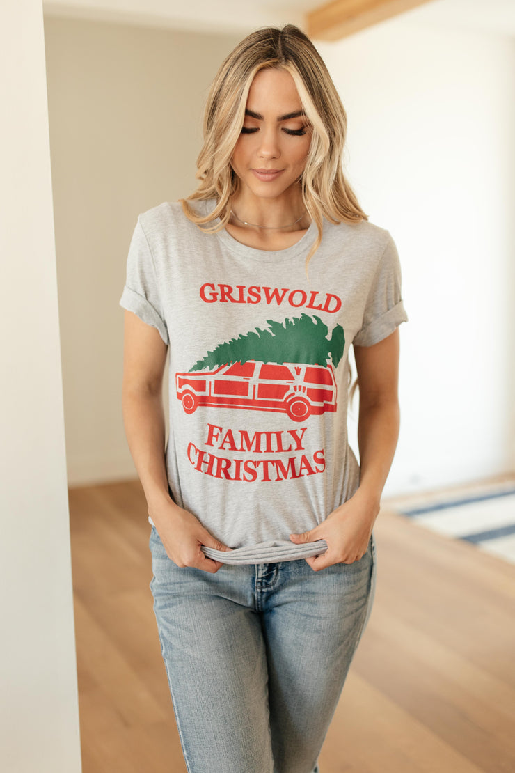 Griswold Family Christmas Graphic Tee - Women's Clothing AfterPay Sezzle KanCan Judy Blue Simply Sass Boutique