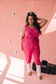 Jump In Jumpsuit In Hot Pink - Women's Clothing AfterPay Sezzle KanCan Judy Blue Simply Sass Boutique