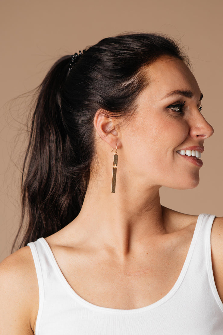 Hammer Things Out Bar Earrings - Simply Sass Boutique
