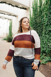 Heathered Heaven Striped Sweater In Fall Colors - Women's Clothing AfterPay Sezzle KanCan Judy Blue Simply Sass Boutique