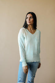 Heavenly Sweater In Pale Peach & Aqua - Women's Clothing AfterPay Sezzle KanCan Judy Blue Simply Sass Boutique