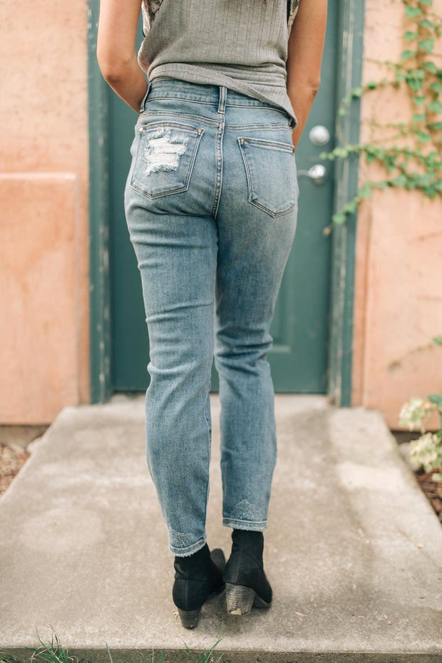 Holier Than Thou Destroyed Boyfriend Judy Blue Jeans - Women's Clothing AfterPay Sezzle KanCan Judy Blue Simply Sass Boutique