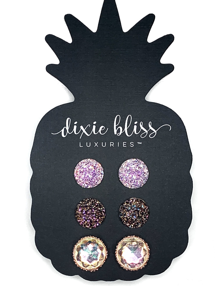 Earring Trio - Lila - Women's Clothing AfterPay Sezzle KanCan Judy Blue Simply Sass Boutique