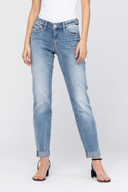 Raw Cuffed Classic Boyfriend Judy Blue Jeans - PREORDER - Women's Clothing AfterPay Sezzle KanCan Judy Blue Simply Sass Boutique