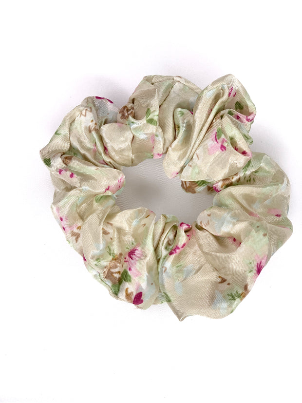 Hair Scrunchie - Cream Floral - Women's Clothing AfterPay Sezzle KanCan Judy Blue Simply Sass Boutique