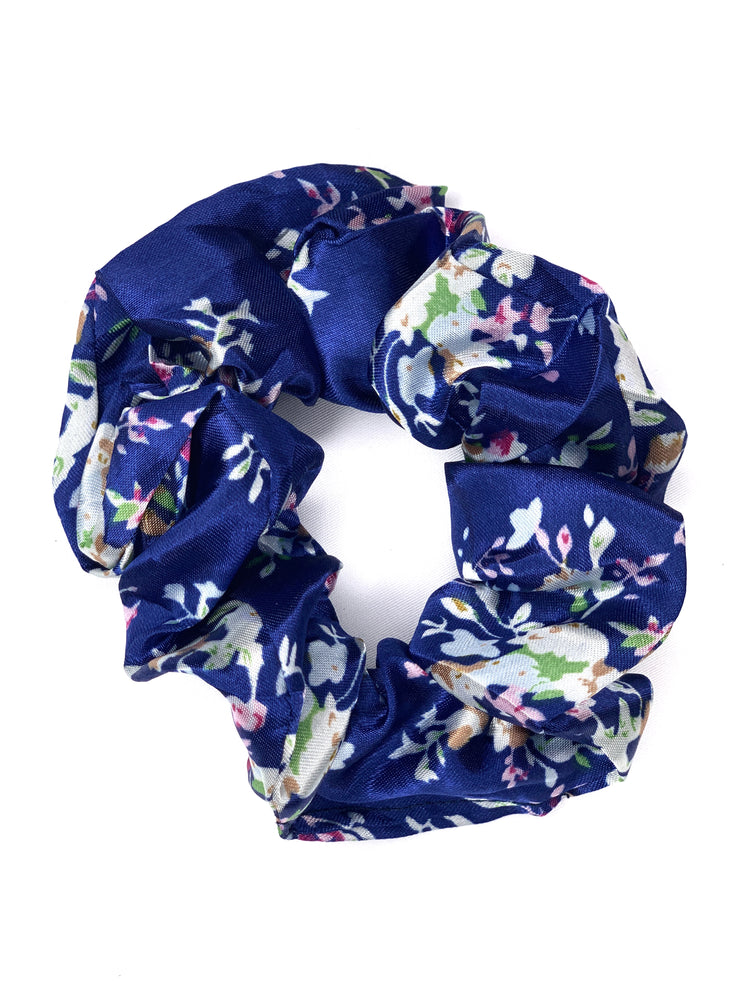 Hair Scrunchie - Blue Floral - Women's Clothing AfterPay Sezzle KanCan Judy Blue Simply Sass Boutique