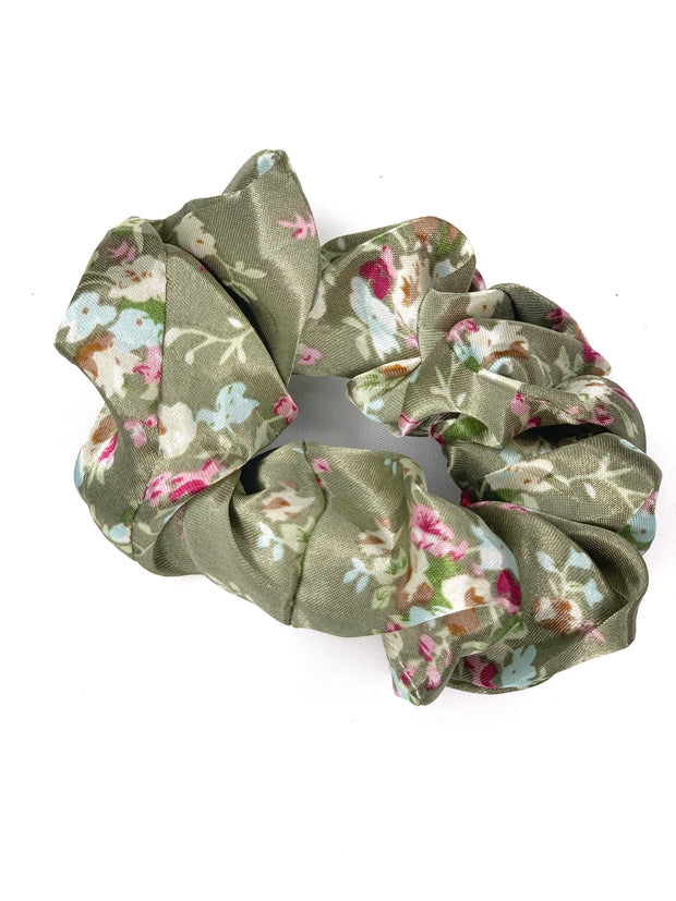 Hair Scrunchie - Floral - Women's Clothing AfterPay Sezzle KanCan Judy Blue Simply Sass Boutique