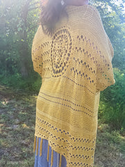 Crochet Mustard Fringe Kimono - Women's Clothing AfterPay Sezzle KanCan Judy Blue Simply Sass Boutique