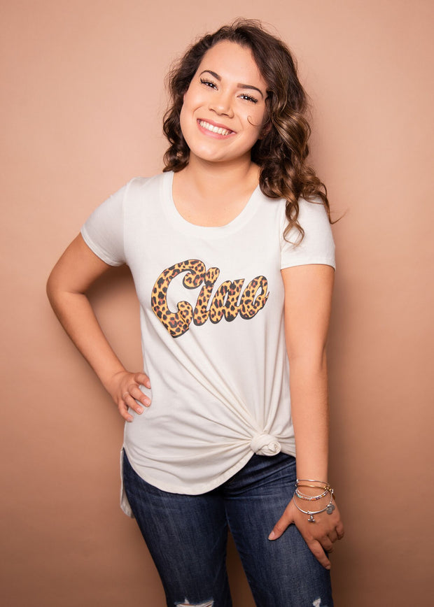 Graphic Tee - Ciao - Women's Clothing AfterPay Sezzle KanCan Judy Blue Simply Sass Boutique