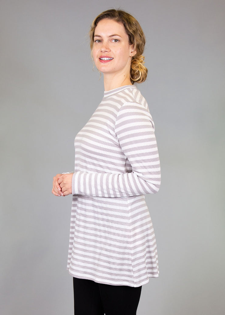 Statice - Grey and White Stripe - Women's Clothing AfterPay Sezzle KanCan Judy Blue Simply Sass Boutique