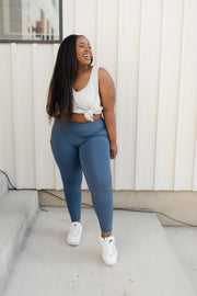 Kickin' It Leggings in Blue - Women's Clothing AfterPay Sezzle KanCan Judy Blue Simply Sass Boutique