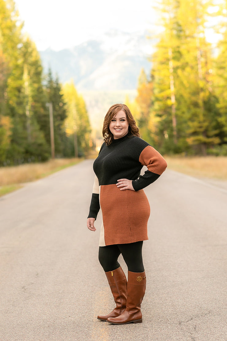 Too Fall To Handle Sweater Dress - Simply Sass Boutique