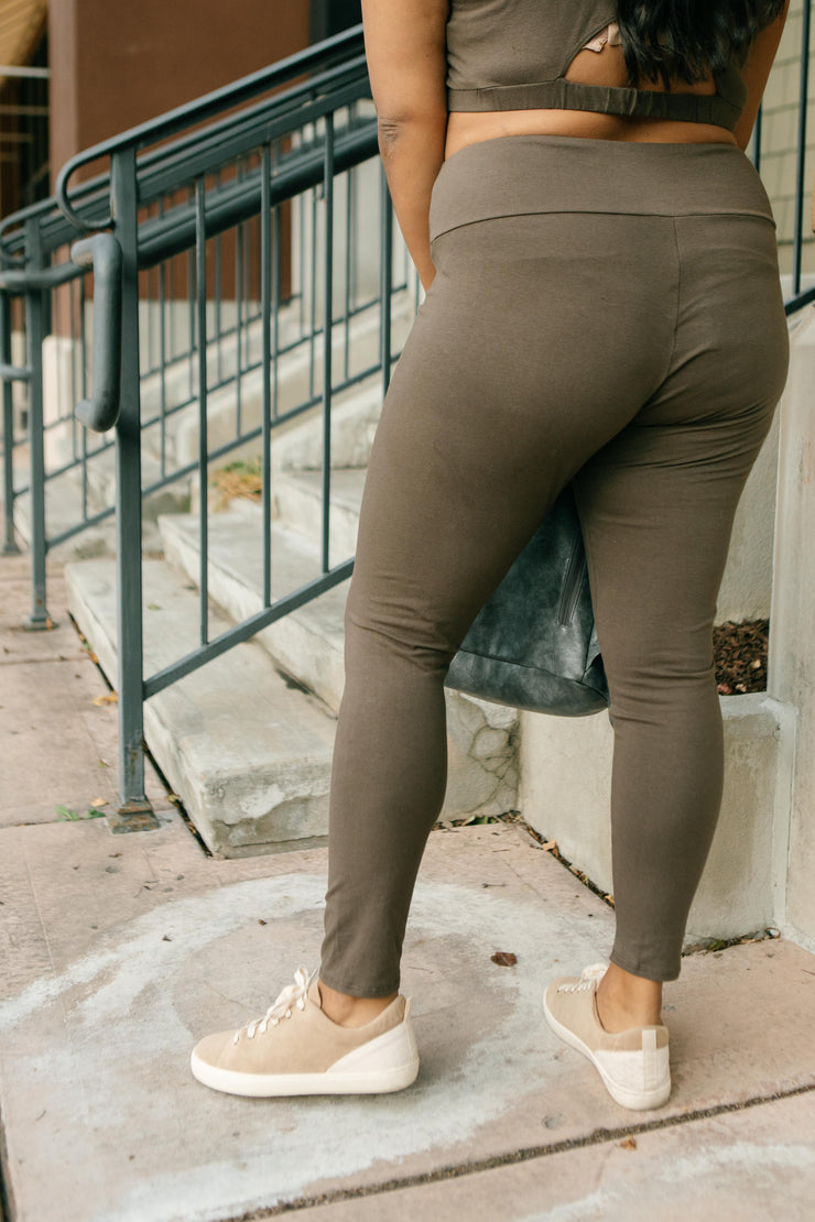 Lucy Lounging Leggings in Deep Olive - Women's Clothing AfterPay Sezzle KanCan Judy Blue Simply Sass Boutique