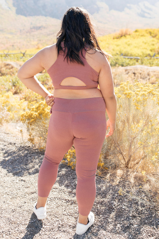 Lucy Lounging Leggings in Mauve - Women's Clothing AfterPay Sezzle KanCan Judy Blue Simply Sass Boutique