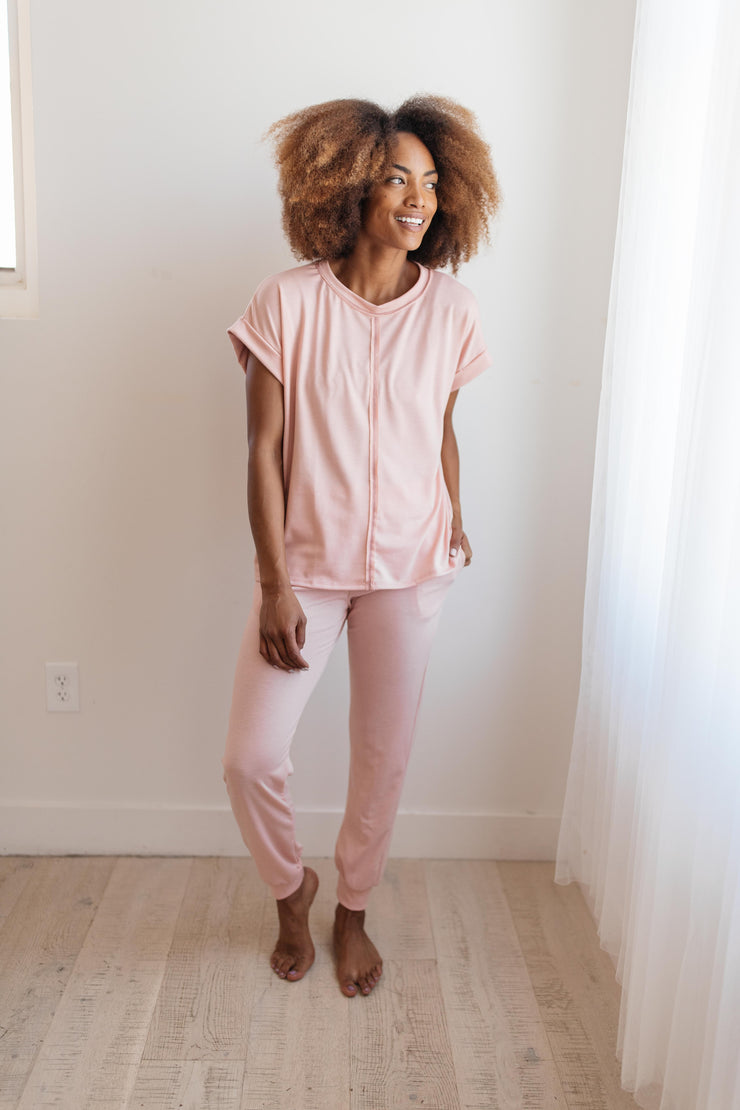 Luxurious Loungewear Joggers In Blush - Women's Clothing AfterPay Sezzle KanCan Judy Blue Simply Sass Boutique