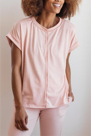 Luxurious Loungewear Top In Blush - Women's Clothing AfterPay Sezzle KanCan Judy Blue Simply Sass Boutique