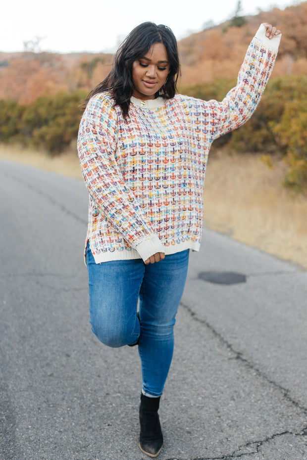 Makin' Me Love You Multicolored Sweater - Women's Clothing AfterPay Sezzle KanCan Judy Blue Simply Sass Boutique