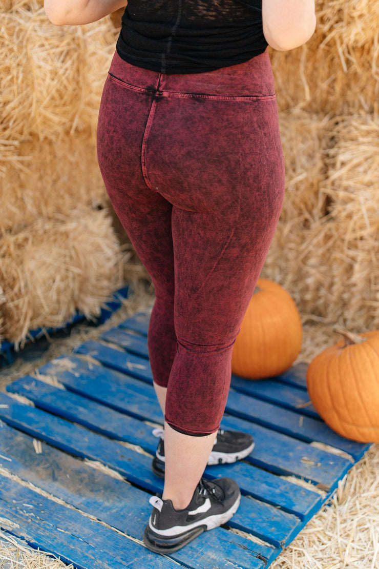 Mineral Wash Minimalist Pants in Raspberry - Women's Clothing AfterPay Sezzle KanCan Judy Blue Simply Sass Boutique