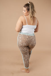 Mint Leopard Joggers - Women's Clothing AfterPay Sezzle KanCan Judy Blue Simply Sass Boutique