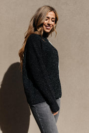 Mostly Dark Turtle Neck Sweater - Women's Clothing AfterPay Sezzle KanCan Judy Blue Simply Sass Boutique