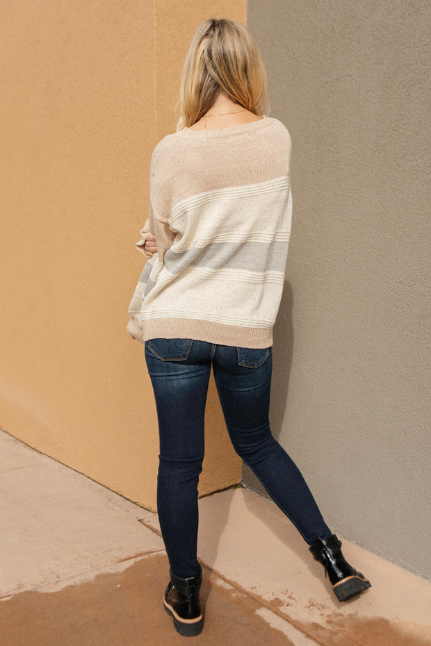 Muted Tones Striped Top - Women's Clothing AfterPay Sezzle KanCan Judy Blue Simply Sass Boutique