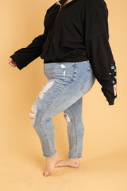 Old Is New Distressed Jeans - Women's Clothing AfterPay Sezzle KanCan Judy Blue Simply Sass Boutique