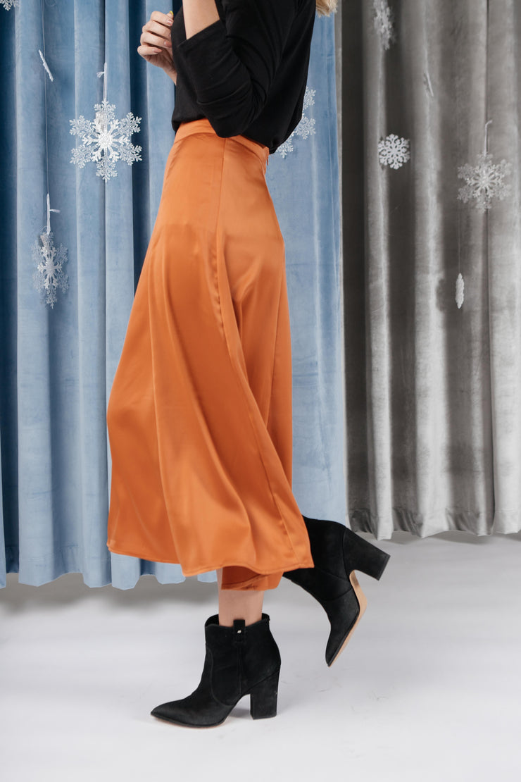 Once Upon A Time Skirt in Tangerine - Women's Clothing AfterPay Sezzle KanCan Judy Blue Simply Sass Boutique
