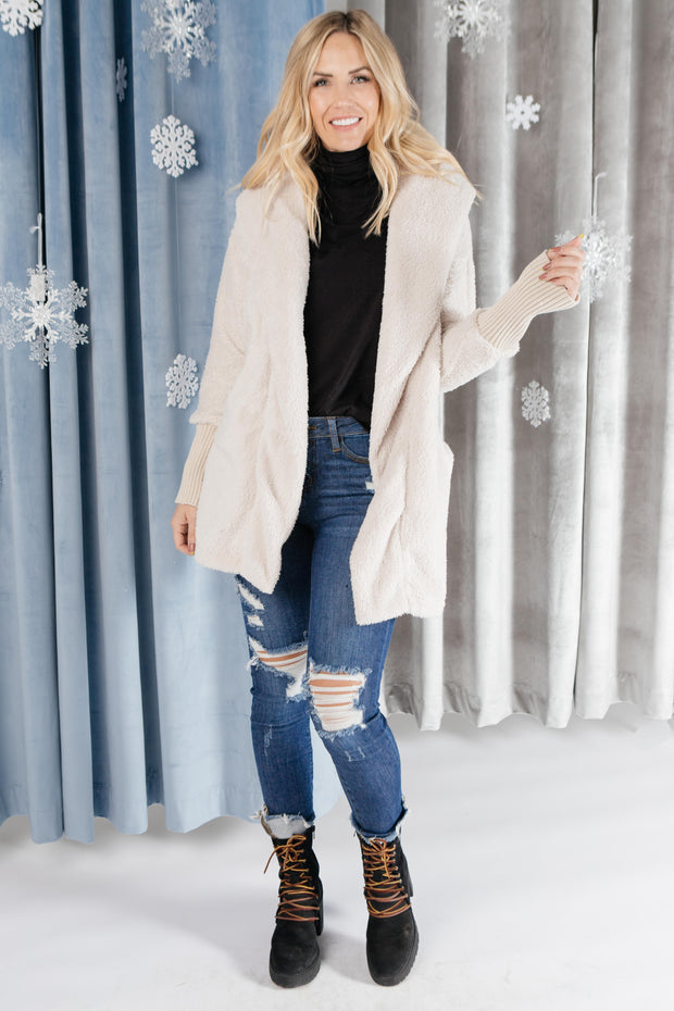 Overly Cozy Cardigan in Ivory - Women's Clothing AfterPay Sezzle KanCan Judy Blue Simply Sass Boutique
