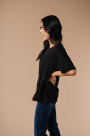 Parallel Universe Top In Black - In House - Women's Clothing AfterPay Sezzle KanCan Judy Blue Simply Sass Boutique
