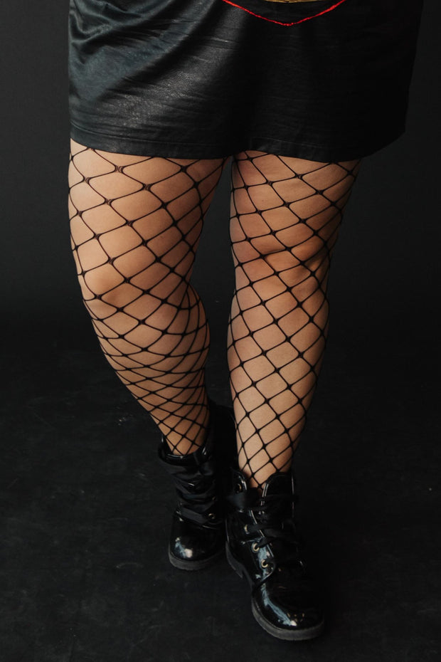 Past Midnight Fence Net Tights - Women's Clothing AfterPay Sezzle KanCan Judy Blue Simply Sass Boutique