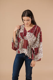 Patch Things Up Date Night Blouse - Women's Clothing AfterPay Sezzle KanCan Judy Blue Simply Sass Boutique
